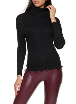 Distressed Hem Sweater - 1020051061180