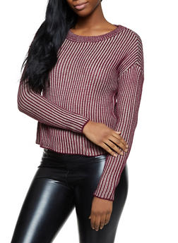Ribbed Scoop Neck Sweater - 1020051930672