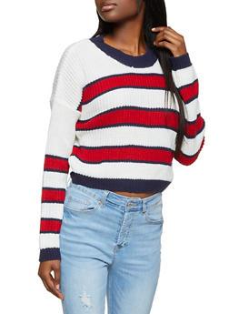 Multi Striped Crew Neck Sweater - 1020051930929