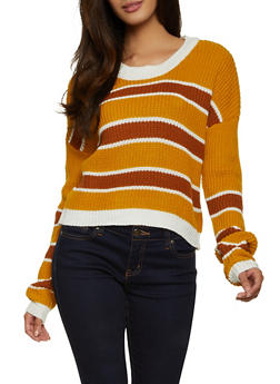 Multi Striped Crew Neck Sweater - 1020051930929