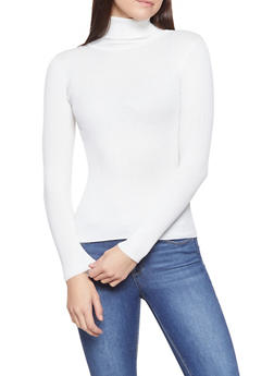 Ribbed Knit Turtleneck Sweater - 1020054264660