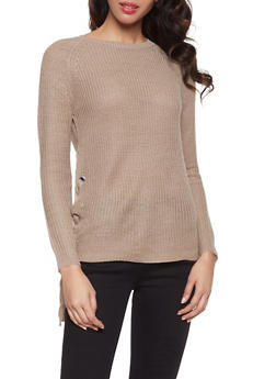 Lace Up Side Sweater - 1020054265920