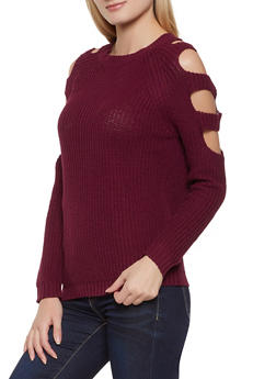 Cut Out Long Sleeve Sweater - 1020054266921