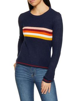 Rainbow Stripe Detail Sweater - 1020074051399
