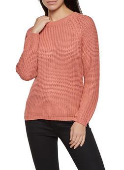 Long Sleeve Knit Sweater - 1020074053422