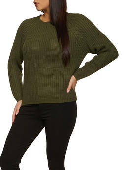 Long Sleeve Knit Sweater - 1020074053422