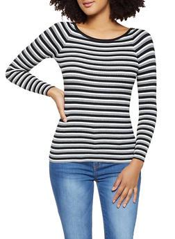 Long Sleeve Multi Stripe Sweater - 1020075171007