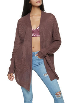 Knit Pocket Cardigan - 1022034284469