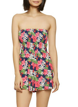 Smocked Floral Romper - 1045038340845