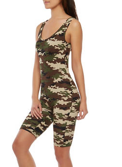 Soft Knit Camo Catsuit - 1045038348862