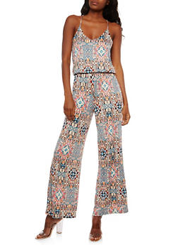 Printed Halter Neck Jumpsuit - 1045038348891