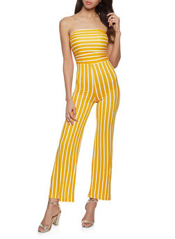 d379cfd63250 Striped Strapless Jumpsuit - 1045038349651