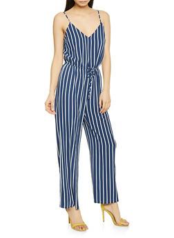 Striped Cami Jumpsuit - 1045054262747
