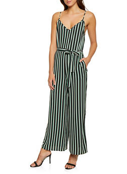 ed397fb1a39 Sleeveless Striped Wide Leg Jumpsuit - 1045054264975