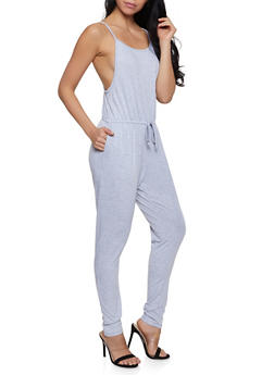 French Terry Lined Jumpsuit - 1045054266786