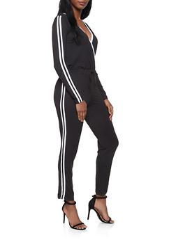 Varsity Stripe Jumpsuit - 1045058752795