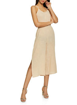Linen Wide Leg Jumpsuit - 1045058752804