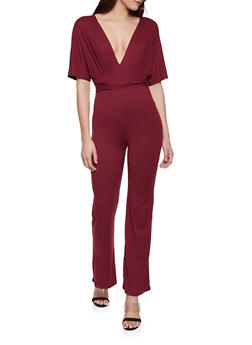 Plunge Neck Jumpsuit - 1045058753259