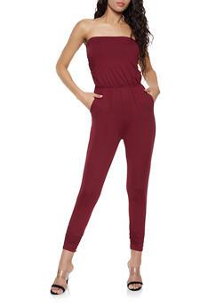 Strapless Soft Knit Jumpsuit - 1045058753374