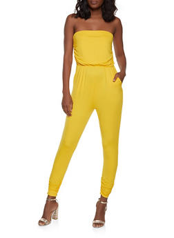 Strapless Soft Knit Jumpsuit - 1045058753374