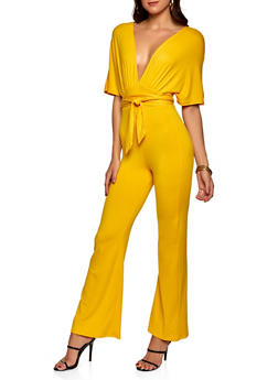 Plunge Soft Knit Jumpsuit - 1045058753885