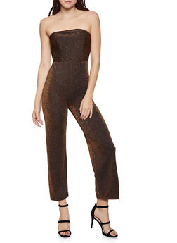 Glitter Knit Tube Jumpsuit - 1045069395164