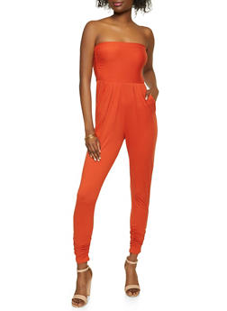 Solid Soft Knit Tube Jumpsuit - 1045073375742