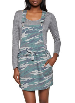 Printed Overall Dress - 1045075172004