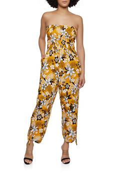 Floral Tie Leg Jumpsuit - 1045075172021
