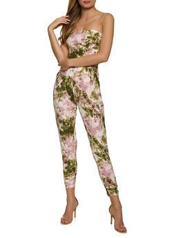 Tie Dye Ruched Jumpsuit - 1045075172037
