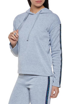 Love Graphic Tape Trim Sweatshirt - 1056001441020
