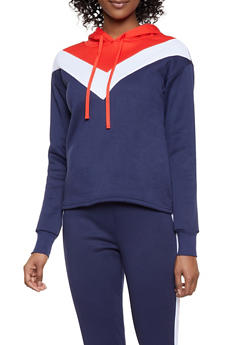 Chevron Color Block Sweatshirt - 1056001441060