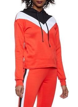 Chevron Color Block Sweatshirt - 1056001441060
