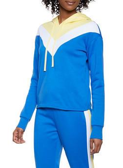 Chevron Color Block Pullover Sweatshirt - 1056001441060