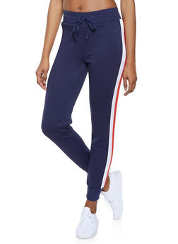 Contrast Trim Sweatpants - 1056001441061