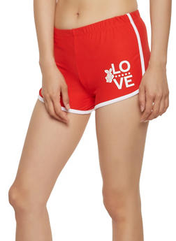 Love Graphic Soft Knit Dolphin Shorts - 1056001443764