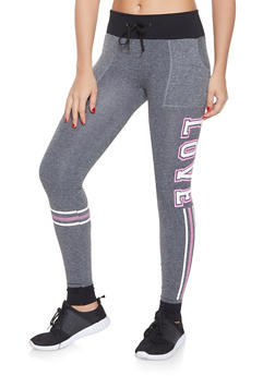 Love Graphic Seamless Joggers - 1056001445060