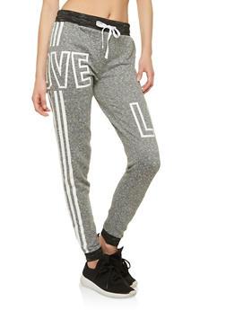Love Graphic Sweatpants - 1056038342859