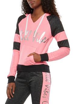 Chill Vibes Graphic Pullover Sweatshirt - 1056038342862