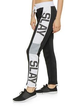 Slay Graphic Sweatpants - 1056038343539