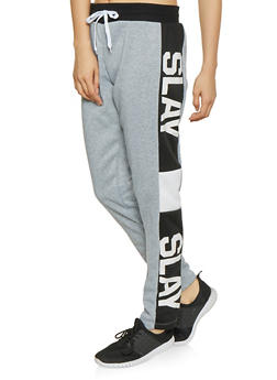 Slay Graphic Sweatpants - 1056038343539