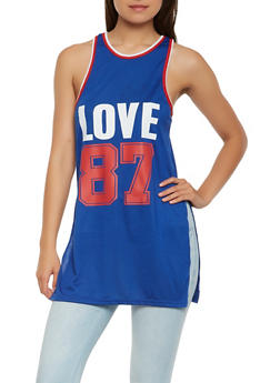 Love Graphic Tunic Tank Top - 1056038346160