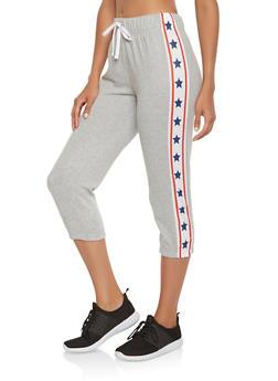 Americana Trim Capri Sweatpants - 1056038346161