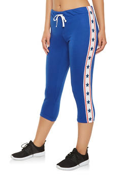 Americana Trim Capri Sweatpants - 1056038346161