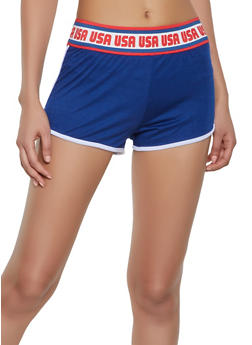 USA Graphic Waist Dolphin Shorts - 1056038346321