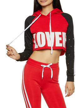 Lover Cropped Sweatshirt - 1056038347074