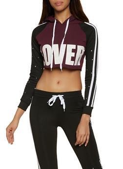Lover Cropped Sweatshirt - 1056038347074