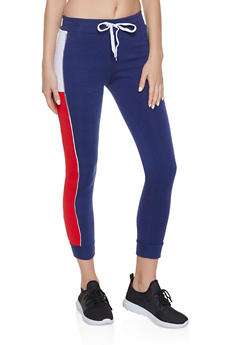 Color Block Side Joggers - 1056038347083