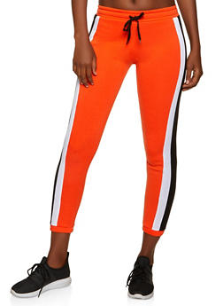 Side Stripe Fleece Joggers - 1056038347203