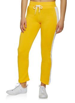 Side Stripe Fleece Sweatpants - 1056038347215